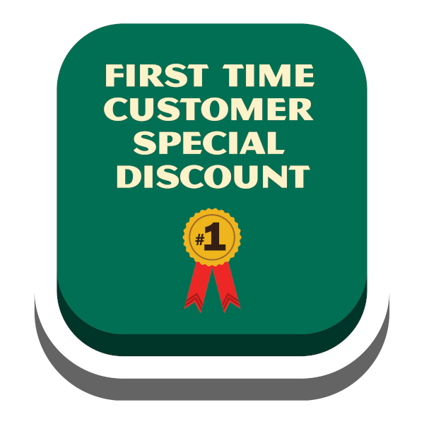 First Time Customer Special Discount Button